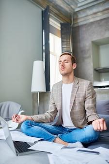 Taking break from tense work