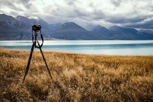 Принимая фотографии озера
