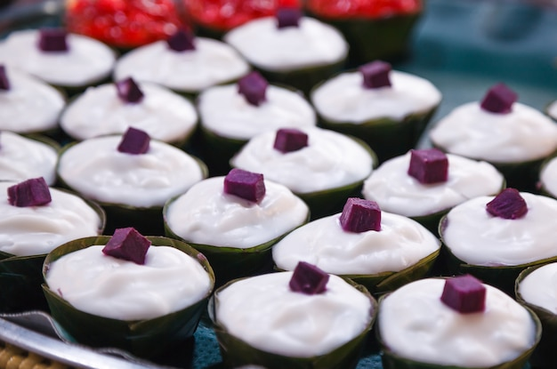 Tako is dessert of thailand, made of flour