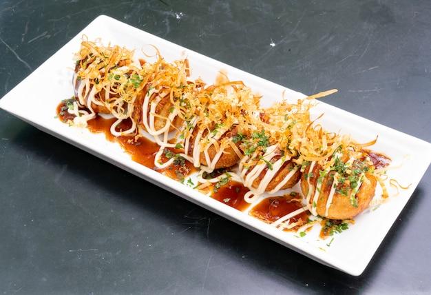 Takoyaki - fried takoyaki ball dumplings