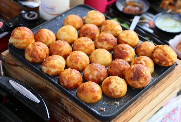 Takoyaki, meat balls as japanese style