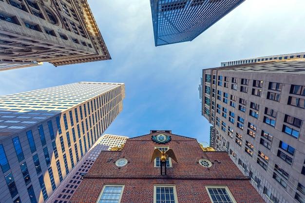 보스턴 시내 시내의 고층 건물