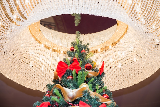 Tall christmas tree with luster