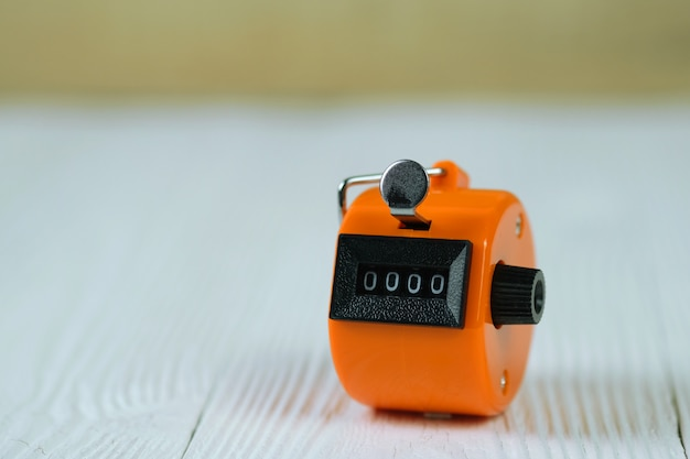 Tally counter or counting machine with 0000 number