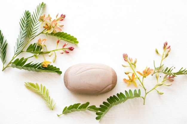 Tamarind herbal soap health care for beauty body skin aroma essence with tamarind flower