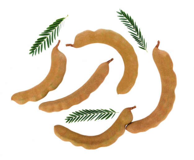 Tamarind on white