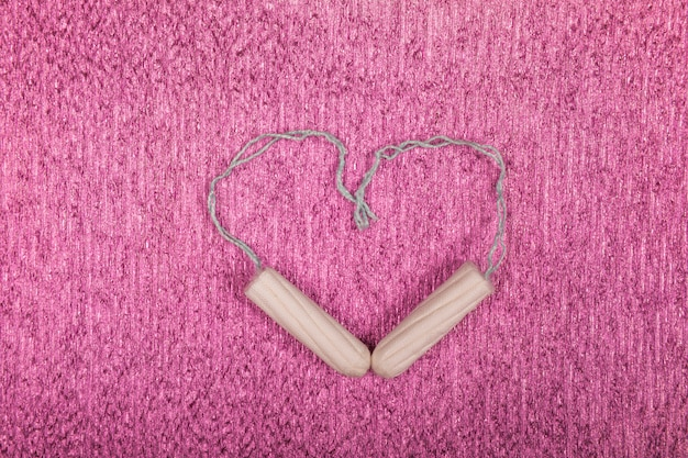 Tampons making a heart