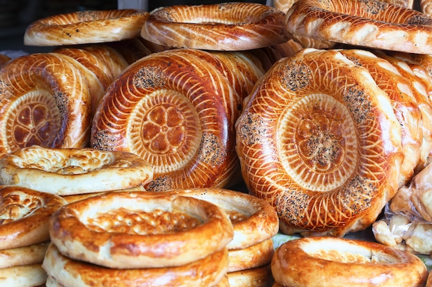 Tandyr cake - bread of central asia.