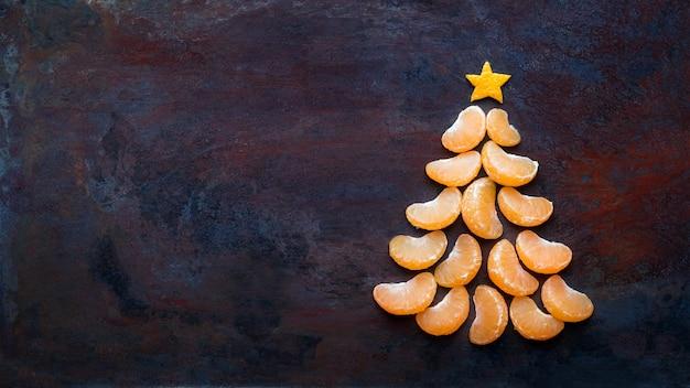 Tangerine christmas tree