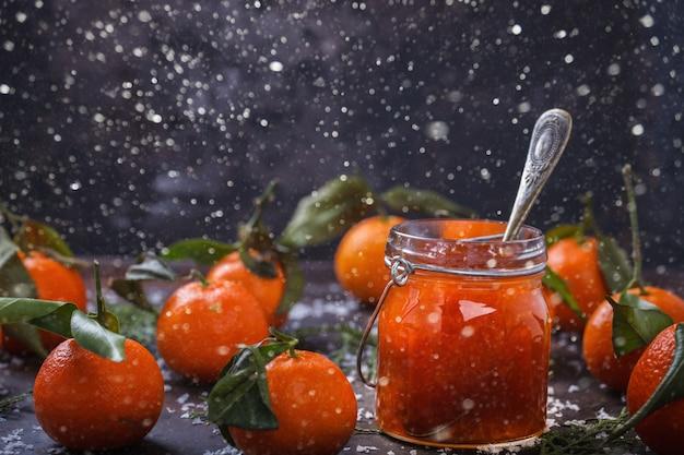 Tangerine jam  traditional dessert at christmas
