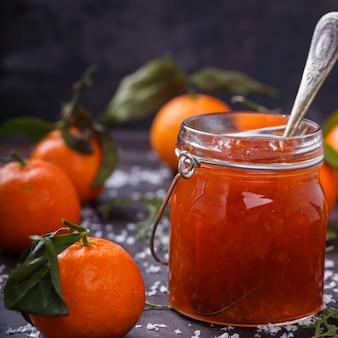 Tangerine jam.traditional dessert in christmas