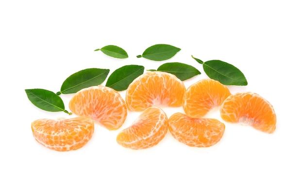 Tangerine orange on white background