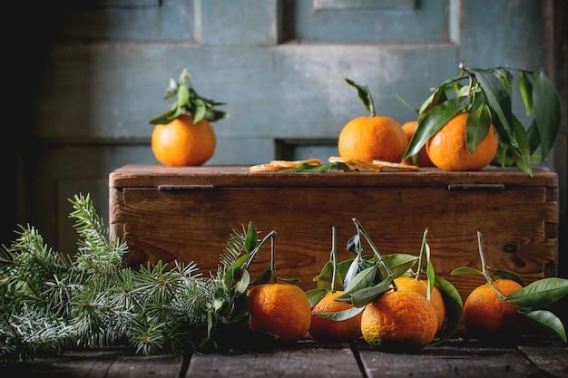 Tangerines in christmas decor