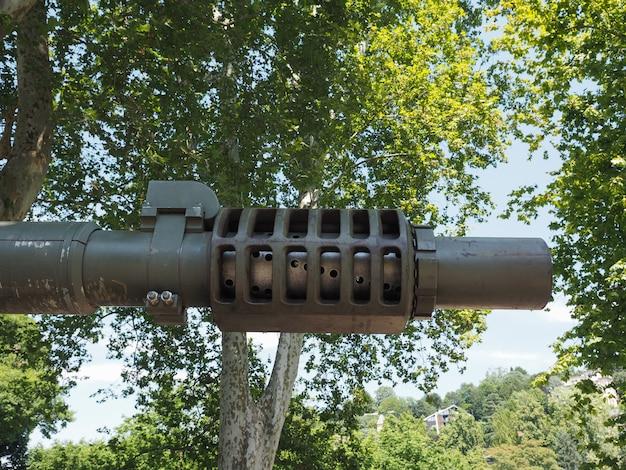 군대에서 사용하는 탱크 총