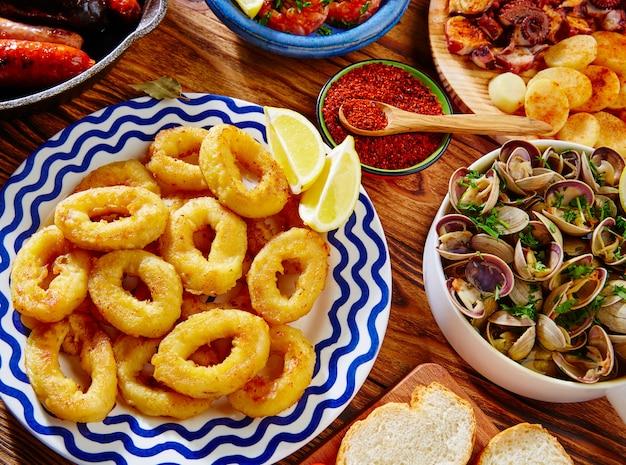 Tapas calamari romana squid rings seafood spain