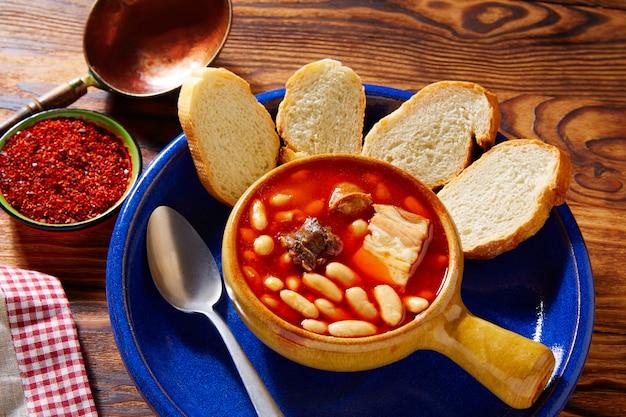 Tapas fabada asturiana beans and sausage spain