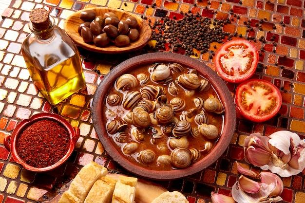 Tapas snail recipe from spain