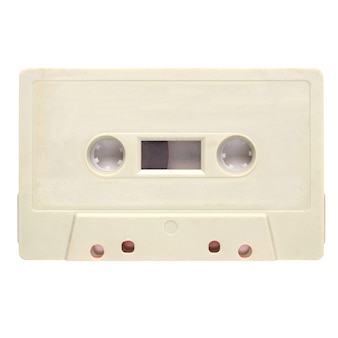 Tape cassette isolated
