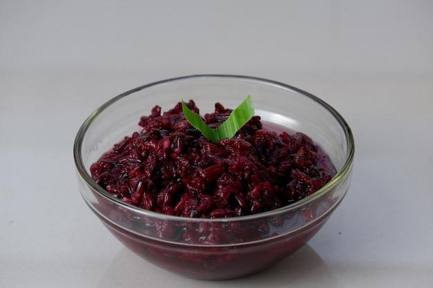 Лента кетан хитам ферментированный черный клейкий рис типичный аккомпанемент для ленты ули