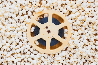 Tape of film reel in popcorn
