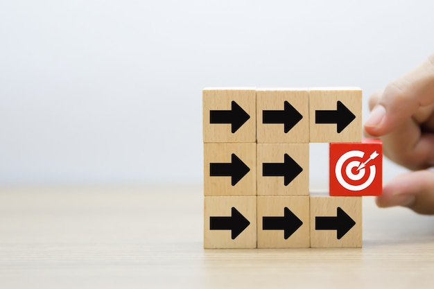 Target, business and success background image.