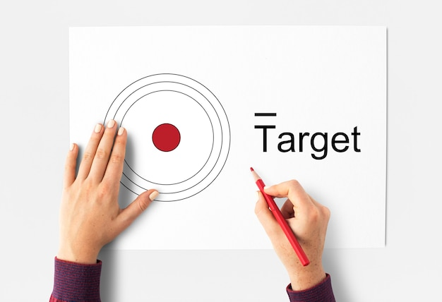 Target concept on paper
