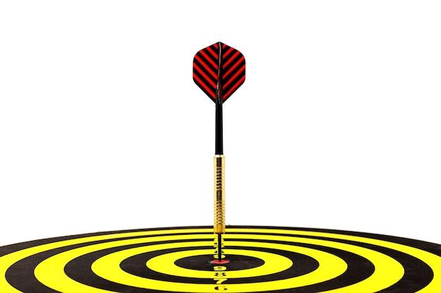 Target dart with arrow background