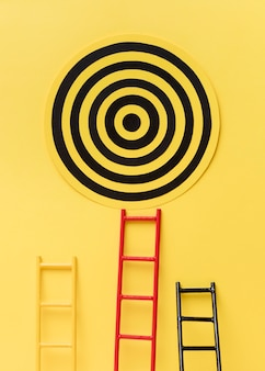 Target goal with dartboard