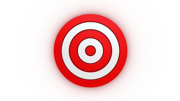 Target on white