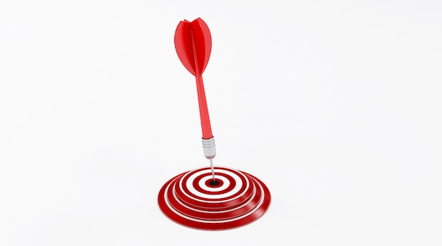 Target with a dart in the center