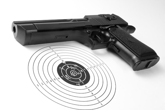 穴と銃でターゲット