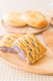 Taro pies on table