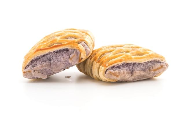 Taro pies on white