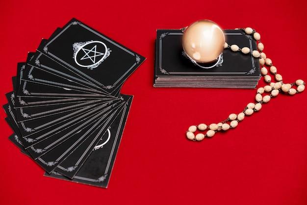 Tarot fortune card occult tarot on table