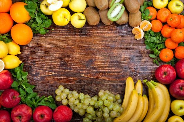 맛있고 건강에 좋은 음식 야채와 과일