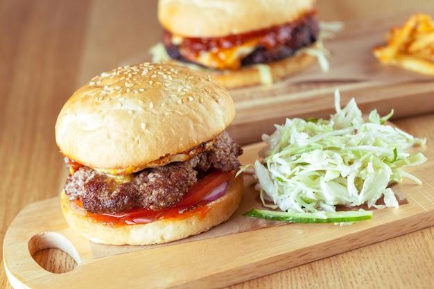 Tasty and appetizing hamburger