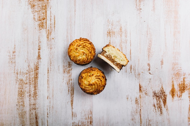 Tasty appetizing mini cakes