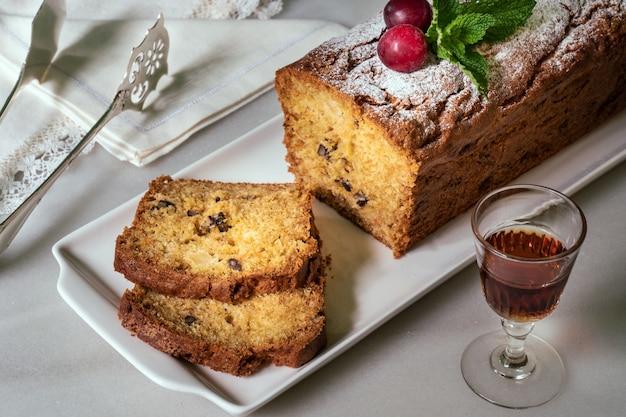 Tasty baked cake