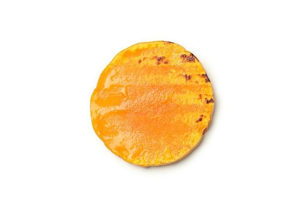 Tasty baked pumpkin isolated on white background.