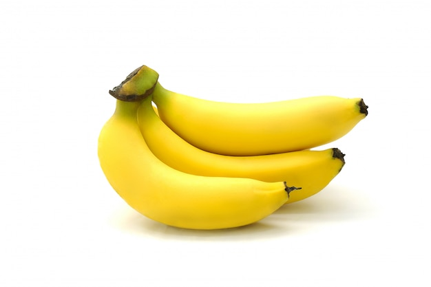 Tasty banana isolated on white