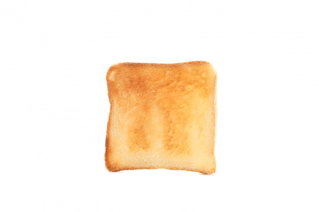 白い背景で隔離のおいしいパンのトースト