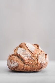 Tasty bread with white background