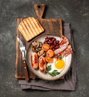 Gustosa composizione del pasto della colazione