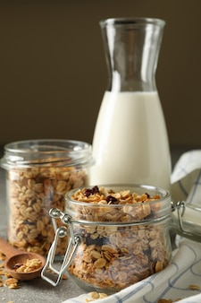 Tasty breakfast with granola
