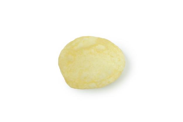 맛있는 칩 조각 흰색 절연