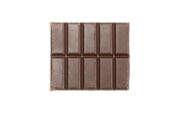 白い背景上に分離されておいしいチョコレートバー