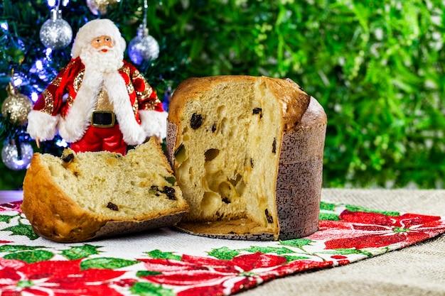 Tasty christmas panettone.