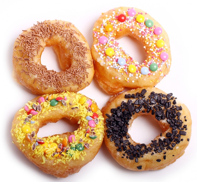 Tasty colorful donuts