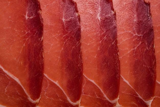 Вкусное вяленое мясо крупным планом