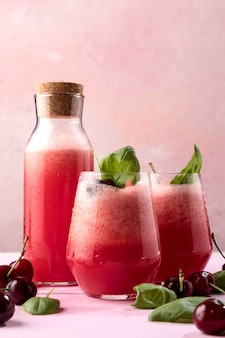 Tasty detox drink with mint